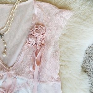 One-of-a-Kind Roses & Lace Top